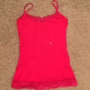Red violet lace Cami